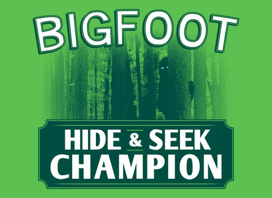 Bigfoot Hide And Seek Champion on Mens T-Shirt