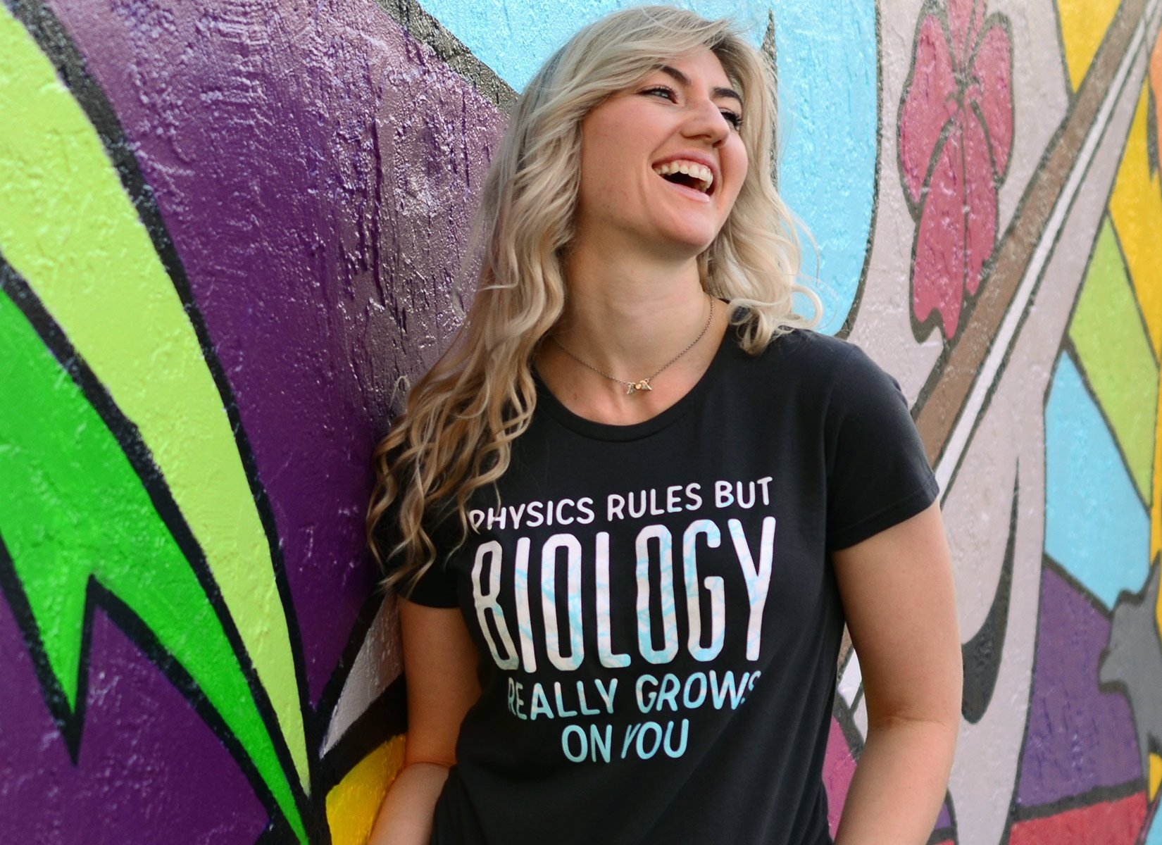 Biology Really Grows On You on Womens T-Shirt