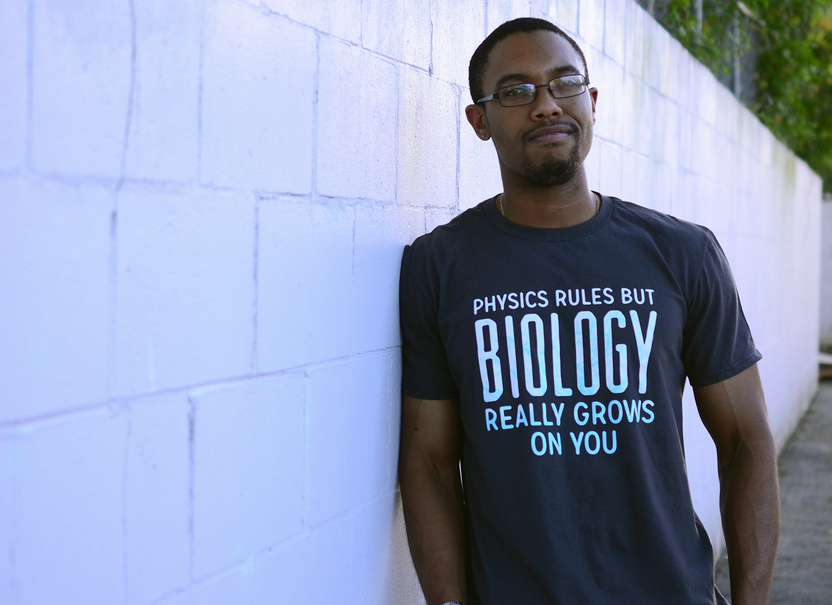 Biology Really Grows On You on Mens T-Shirt