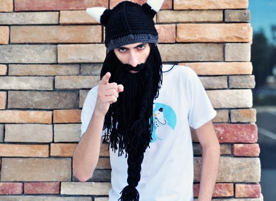 Long Barbarian Hat on Mens Hats