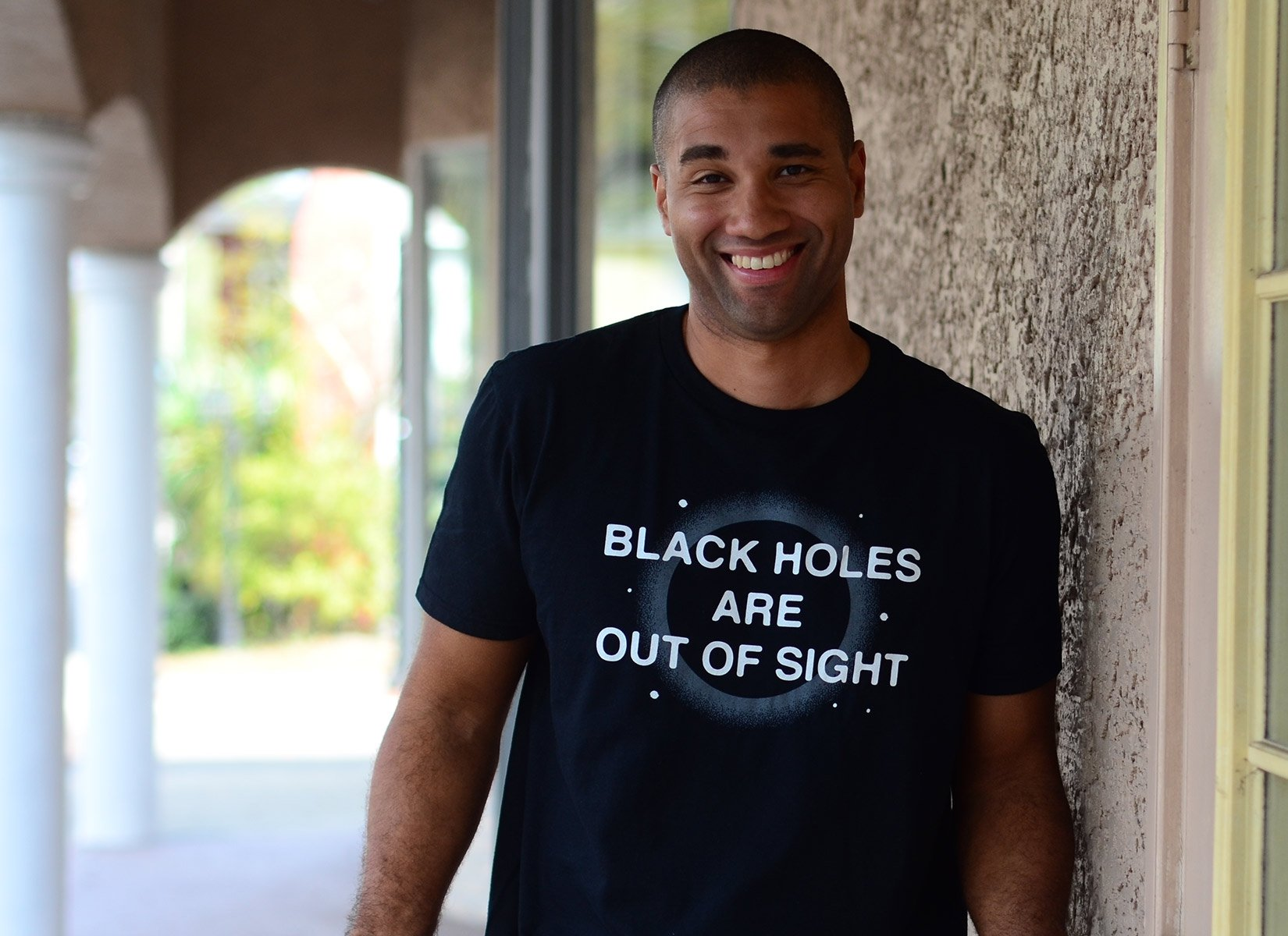 Black Holes Are Out Of Sight on Mens T-Shirt