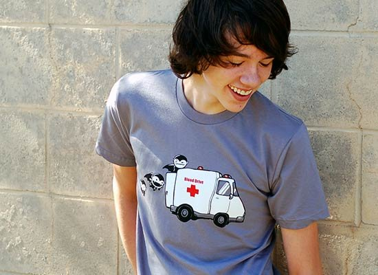 Blood Drive Vampires on Mens T-Shirt