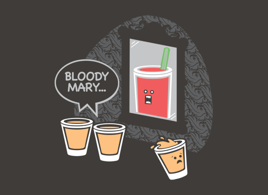 Bloody Mary on Mens T-Shirt
