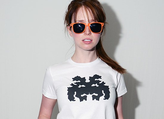 Rorschach Invader on Juniors T-Shirt
