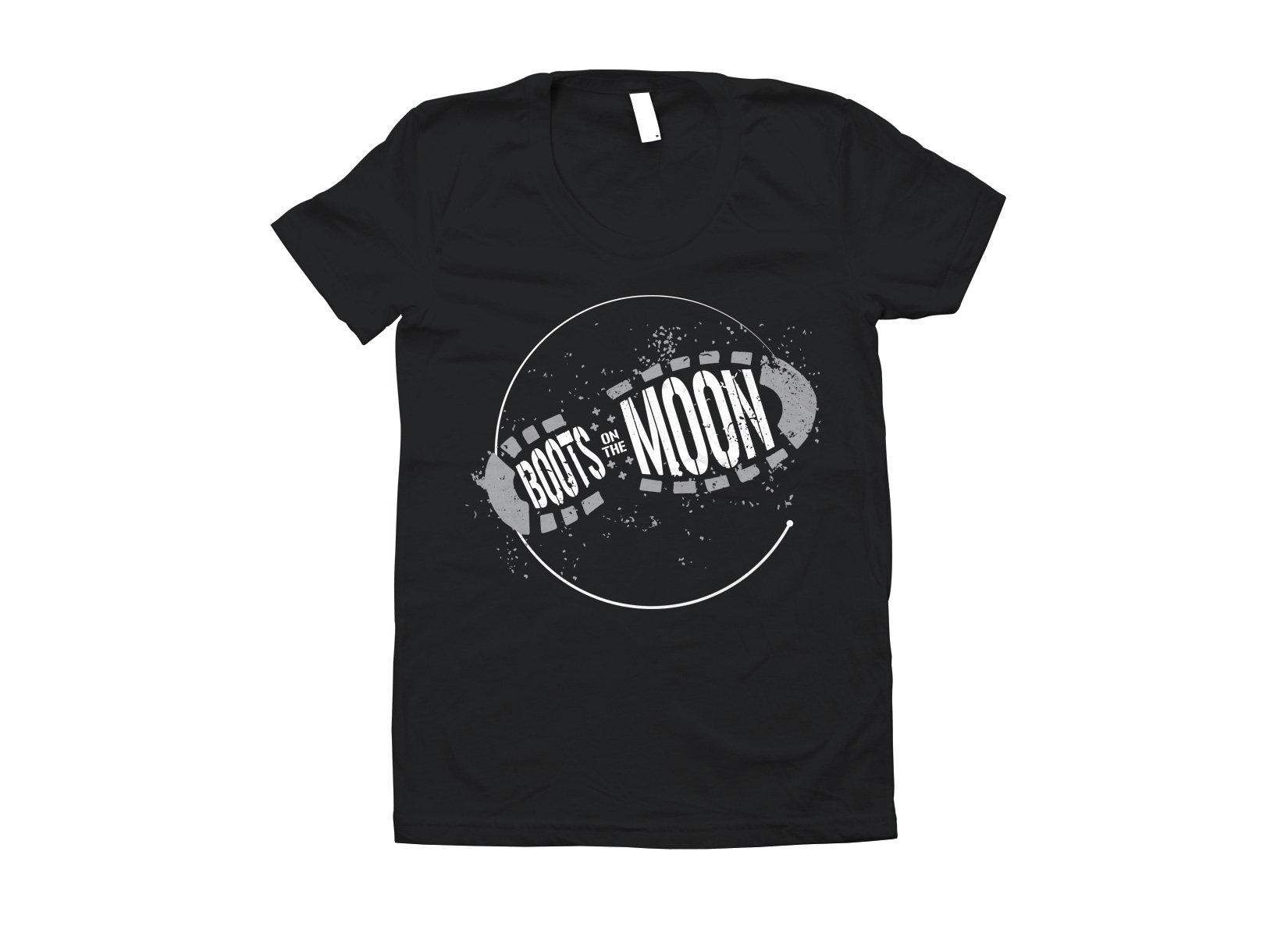 Boots On The Moon on Juniors T-Shirt