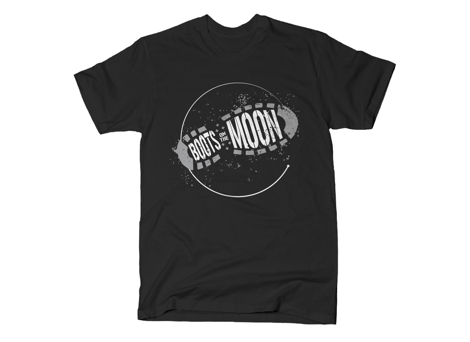 Boots On The Moon on Mens T-Shirt