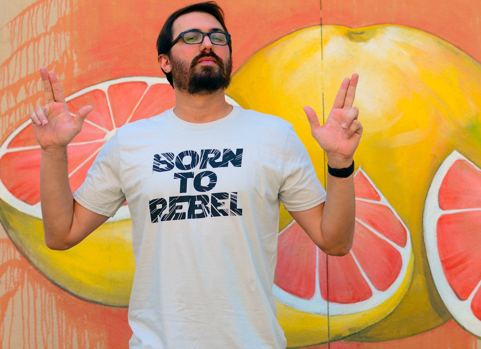 Born To Rebel on Mens T-Shirt