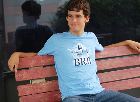 BRB on Mens T-Shirt