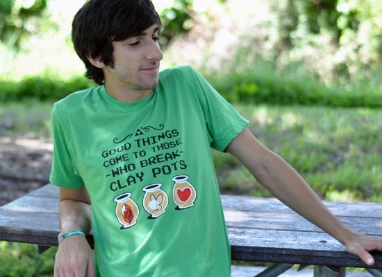 Good Things Come To Those Who Break Clay Pots on Mens T-Shirt