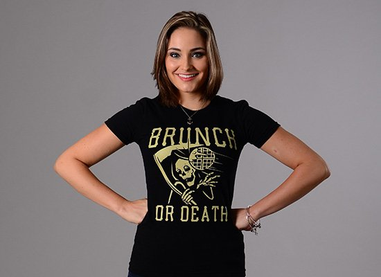 Brunch Or Death on Juniors T-Shirt