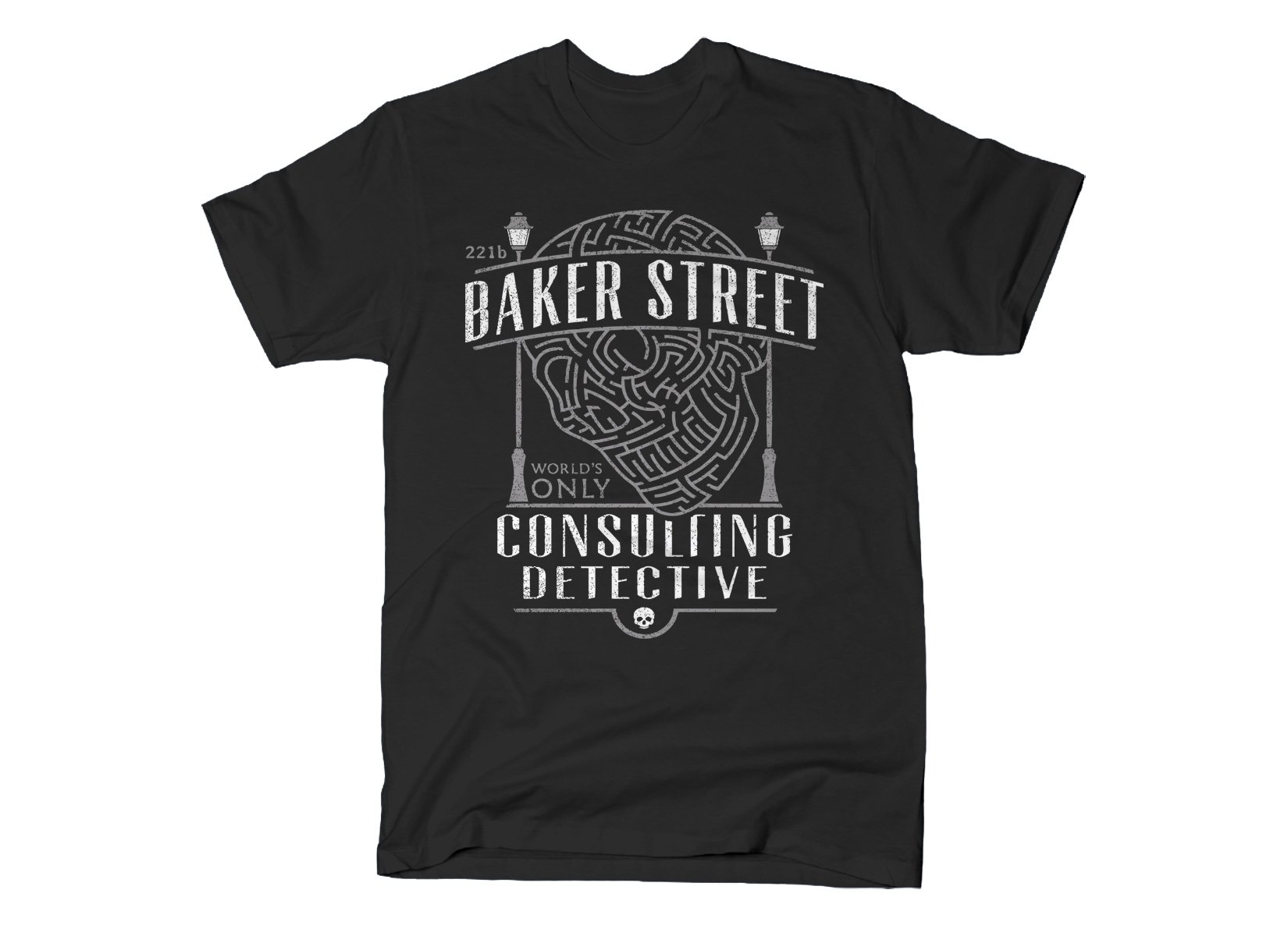 Baker Street Consulting Detective on Mens T-Shirt