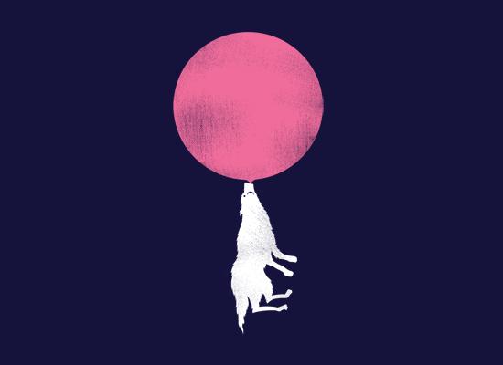 Bubble Moon on Mens T-Shirt