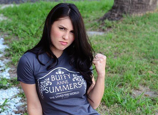 Buffy Anne Summers on Juniors T-Shirt