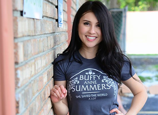 Buffy Anne Summers on Juniors T-Shirt