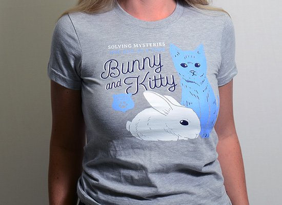Bunny And Kitty on Juniors T-Shirt