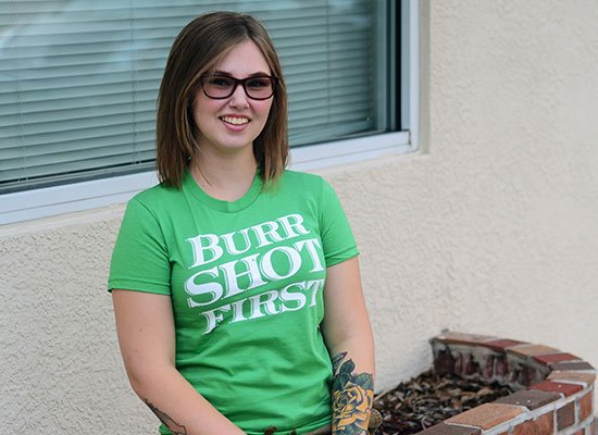Burr Shot First on Juniors T-Shirt