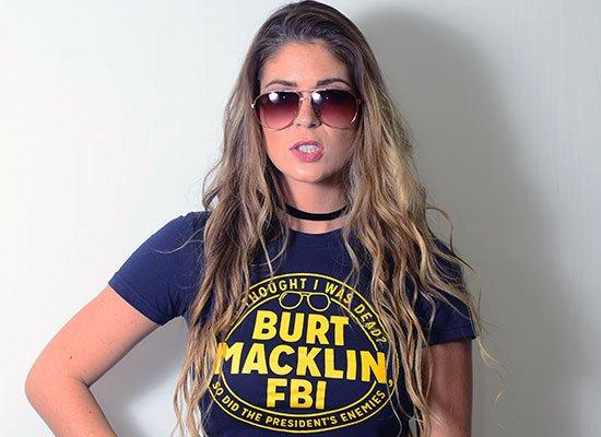 Burt Macklin, FBI on Juniors T-Shirt