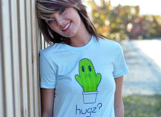 Hugz? Cactus on Juniors T-Shirt