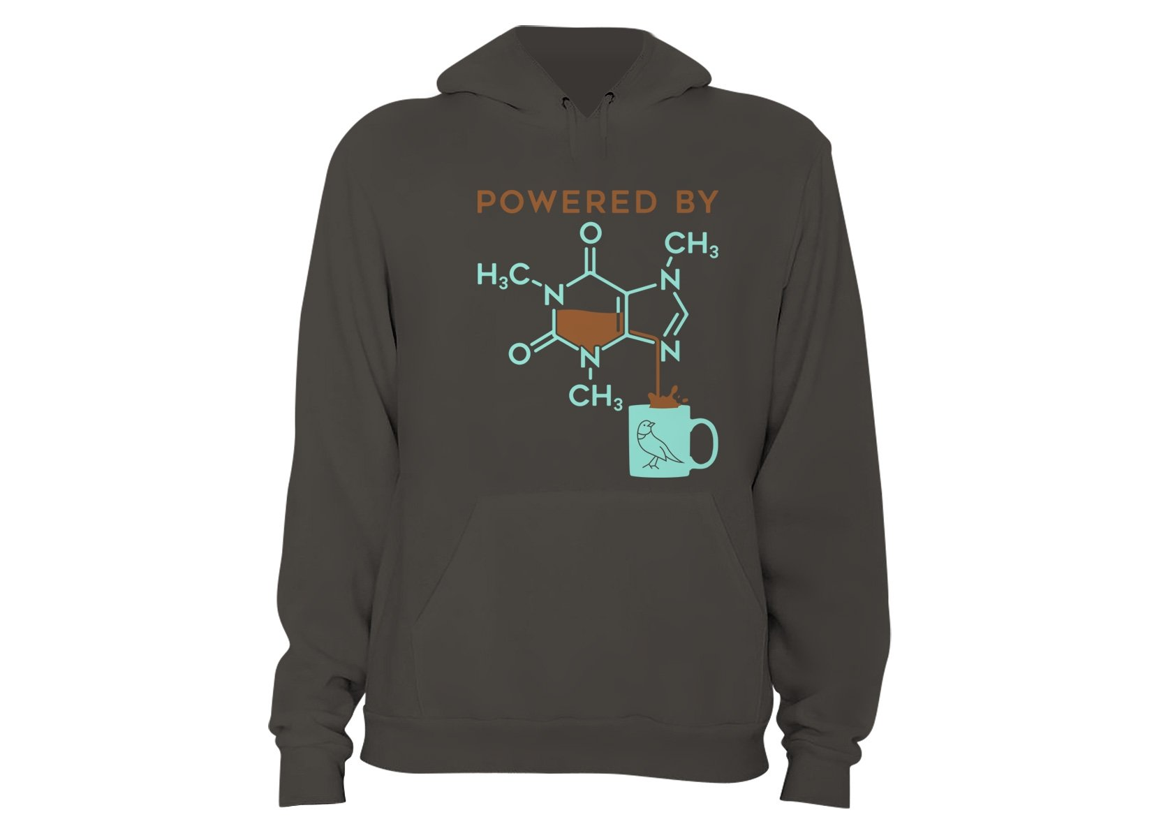 Powered By Caffeine on Hoodie