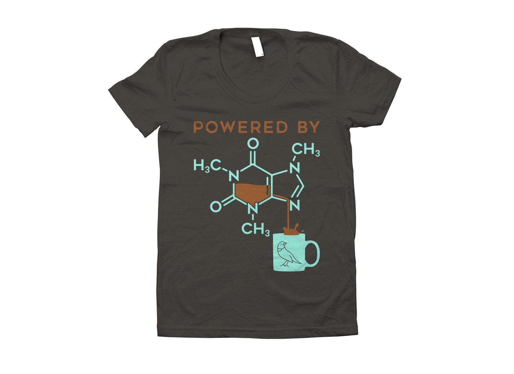 Powered By Caffeine on Juniors T-Shirt