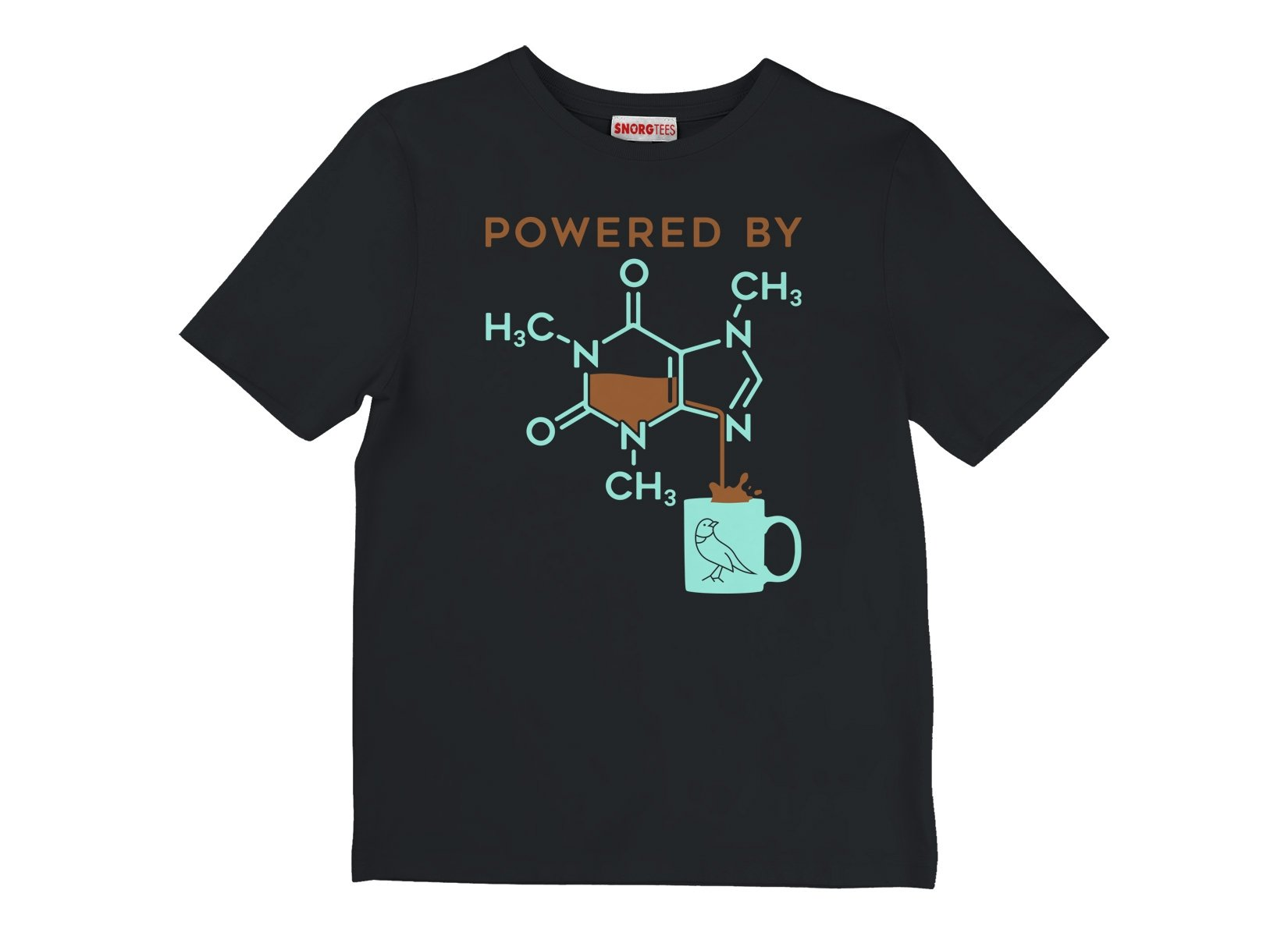 Powered By Caffeine on Kids T-Shirt