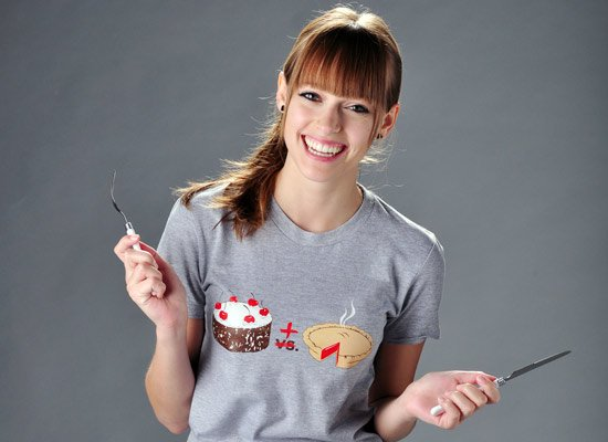 Cake Plus Pie on Juniors T-Shirt
