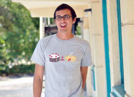 Cake Plus Pie on Mens T-Shirt