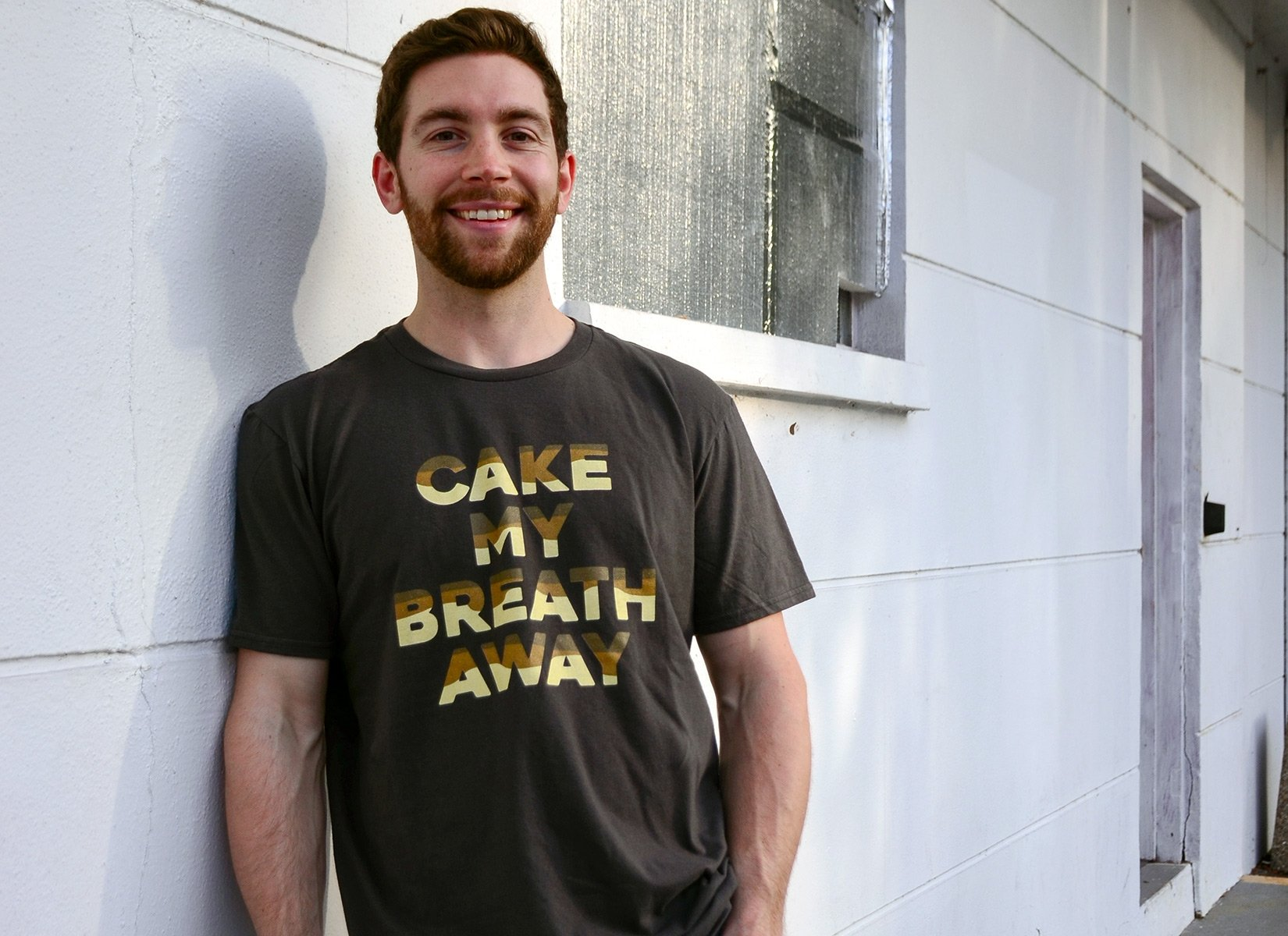 Cake My Breath Away on Mens T-Shirt