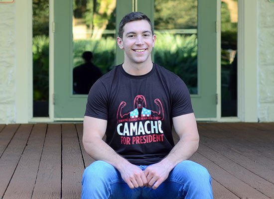 Camacho For President on Mens T-Shirt