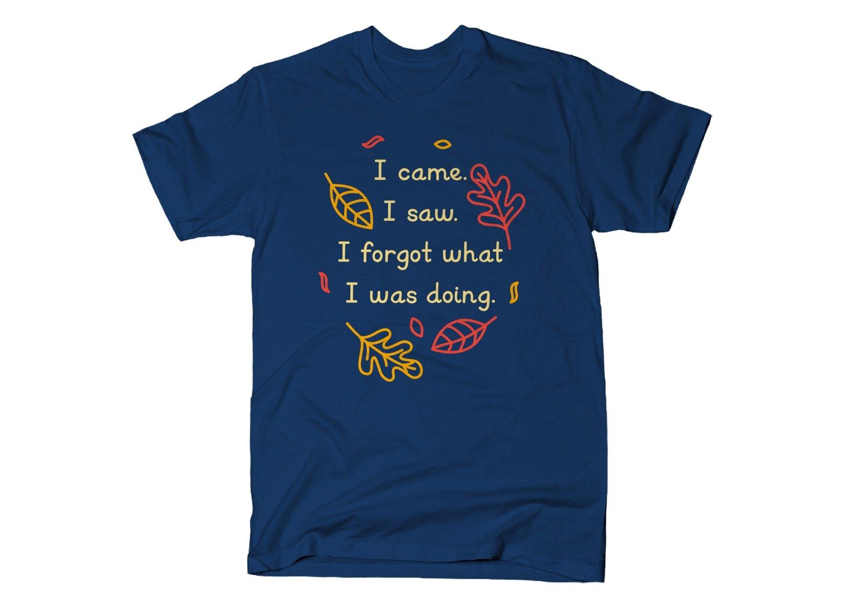 I Came. I Saw. I Forgot What I Was Doing. on Mens T-Shirt