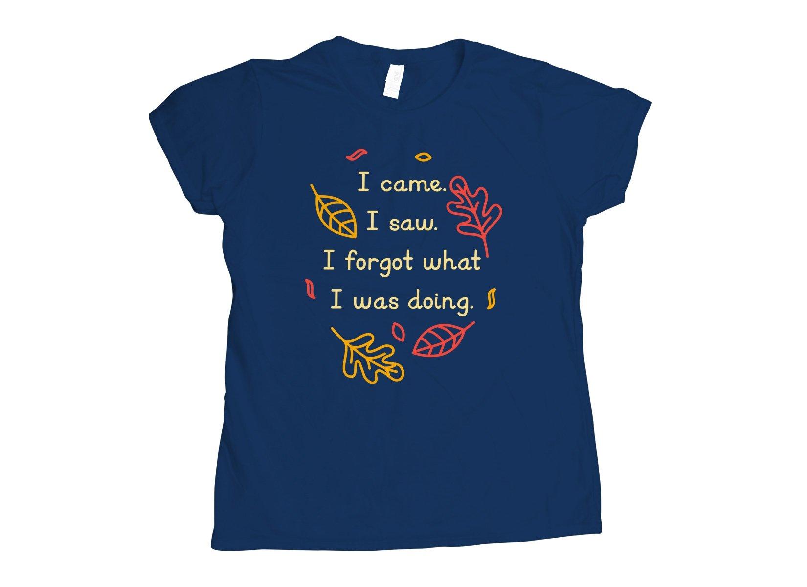 I Came. I Saw. I Forgot What I Was Doing. on Womens T-Shirt