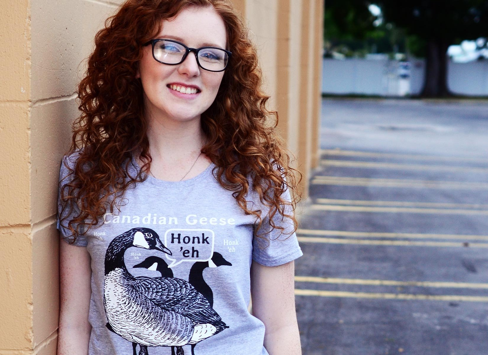 Canadian Geese on Womens T-Shirt
