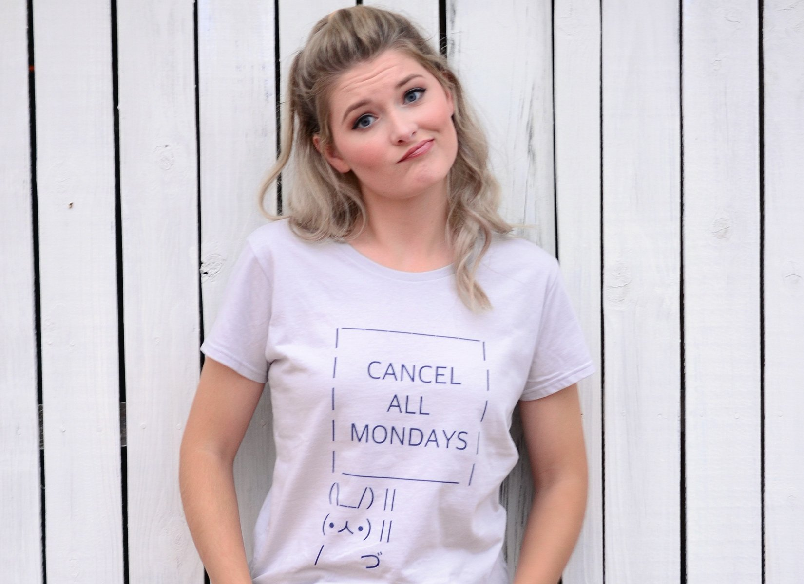 Cancel All Mondays Bunny on Womens T-Shirt