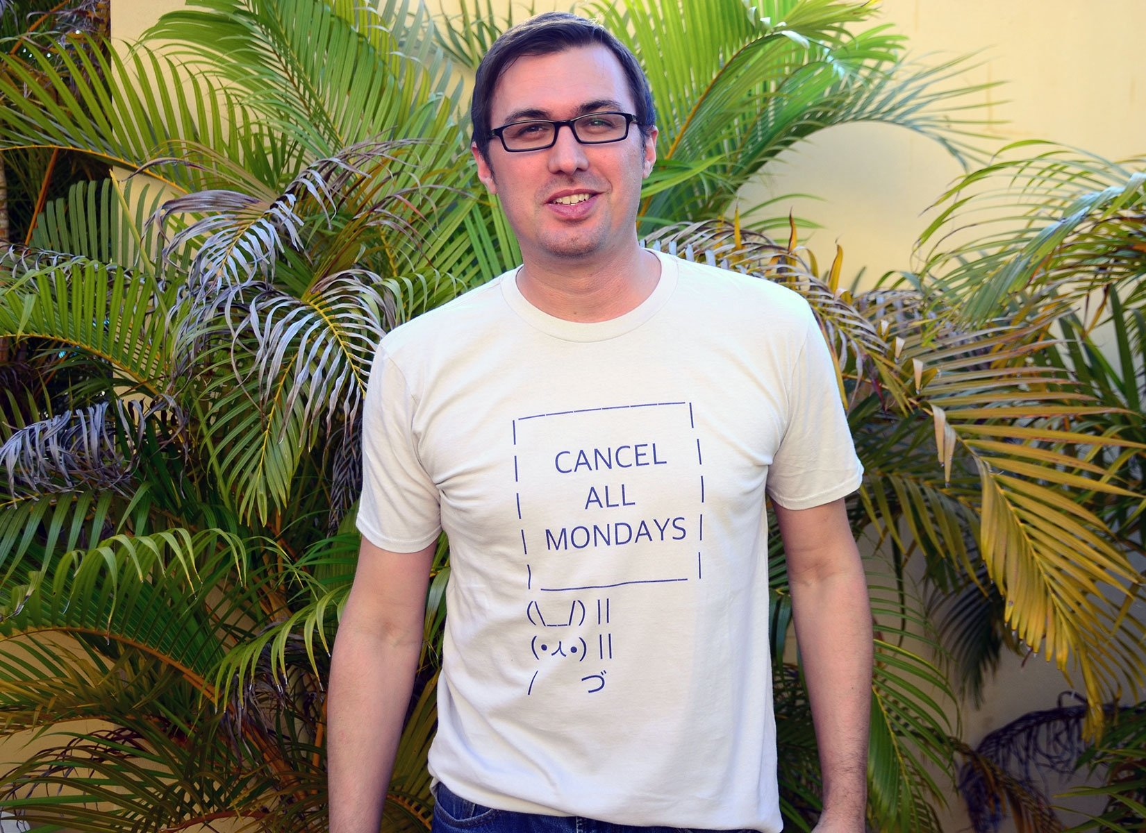 Cancel All Mondays Bunny on Mens T-Shirt