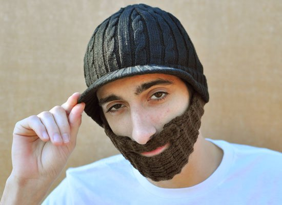 Urban Beard Black Hat on Mens Hats