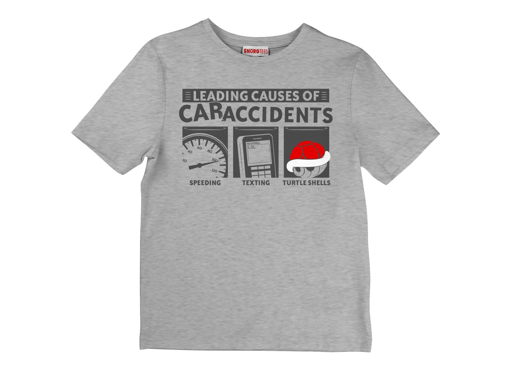 Leading Causes of Accidents on Kids T-Shirt