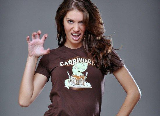 Carbivore on Juniors T-Shirt