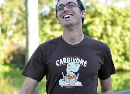Carbivore on Mens T-Shirt