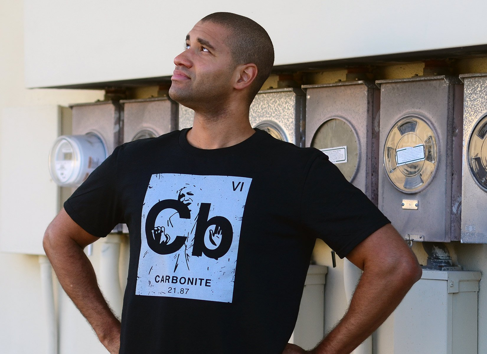 Carbonite Element on Mens T-Shirt