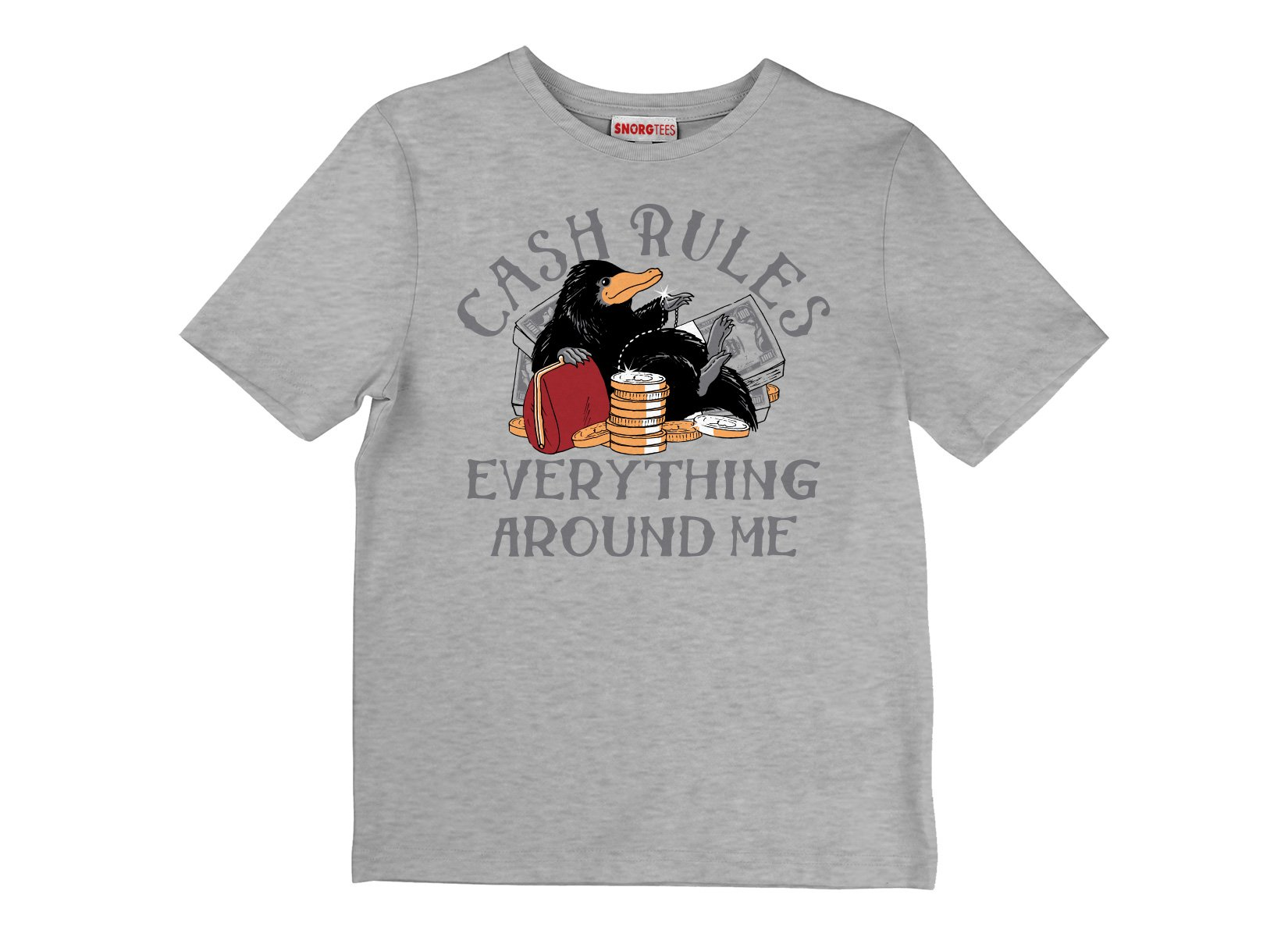 Cash Rules Everything Around Me on Kids T-Shirt