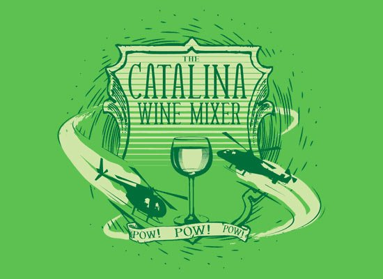 The Catalina Wine Mixer on Mens T-Shirt