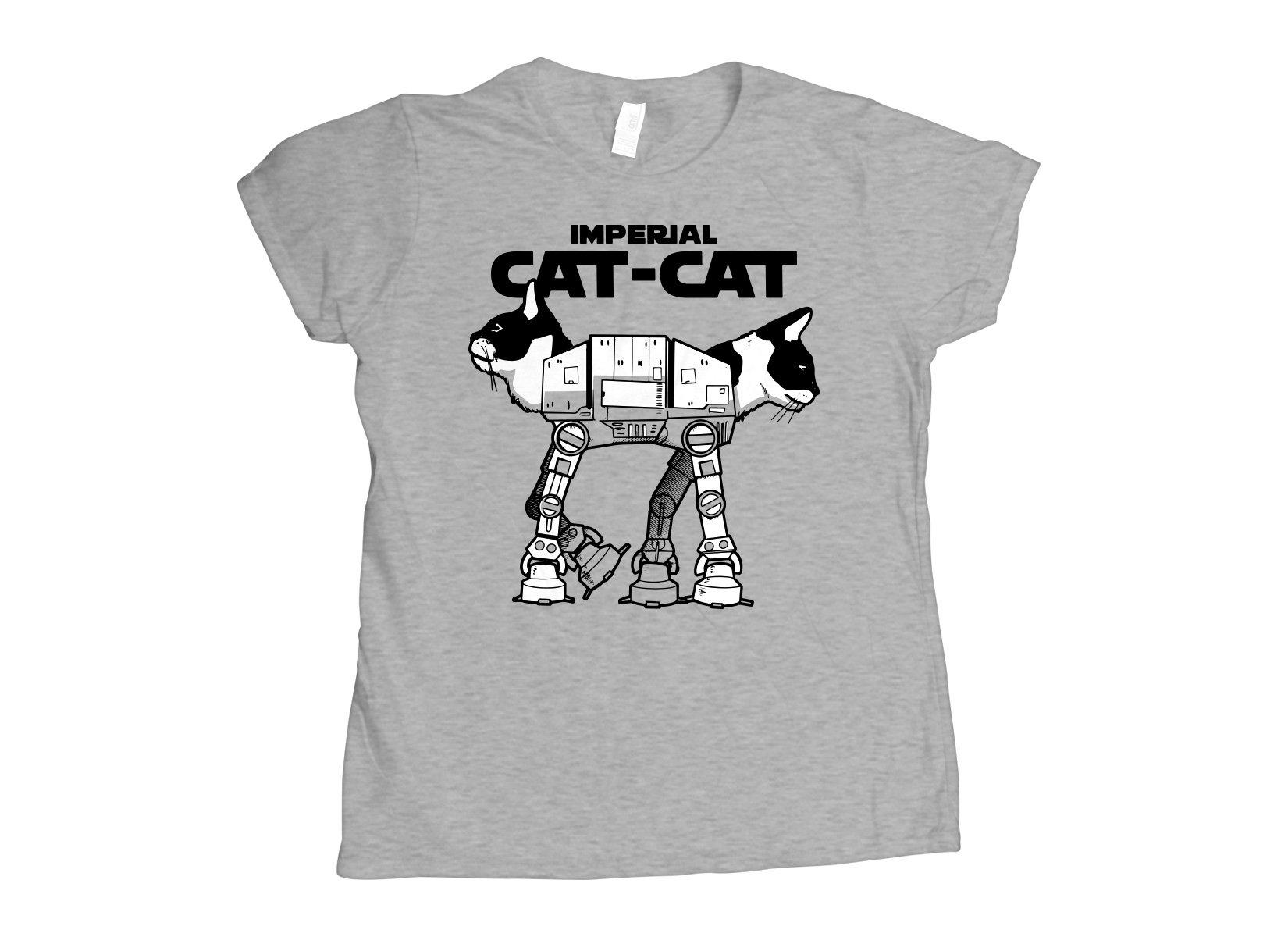 Cat-Cat on Womens T-Shirt