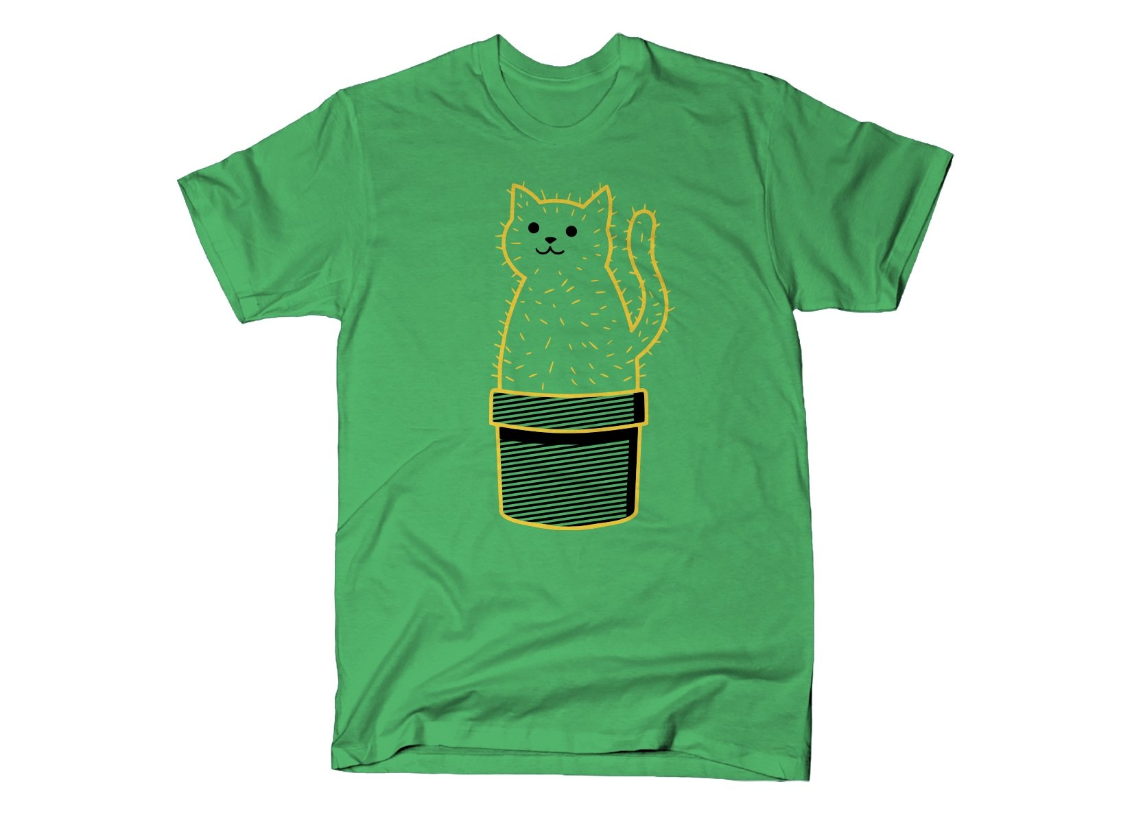 Catcus on Mens T-Shirt