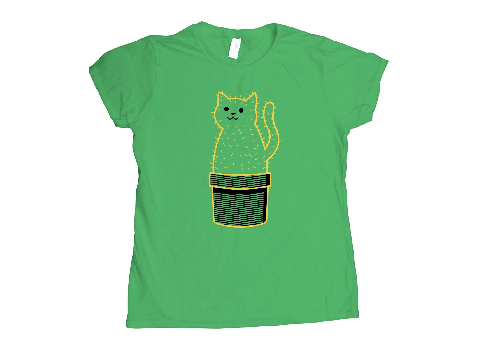 Catcus on Womens T-Shirt