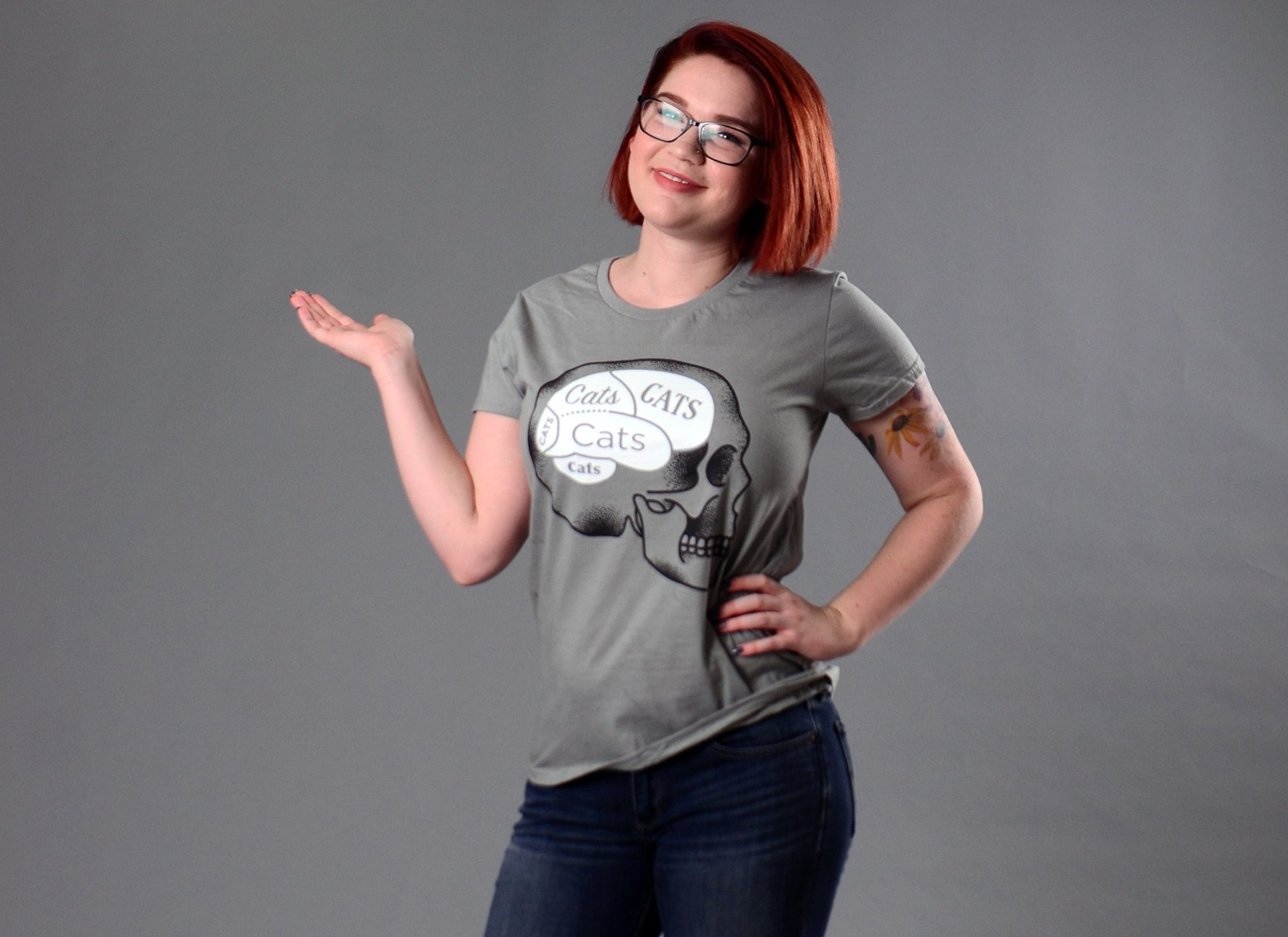 Cats On The Brain on Womens T-Shirt