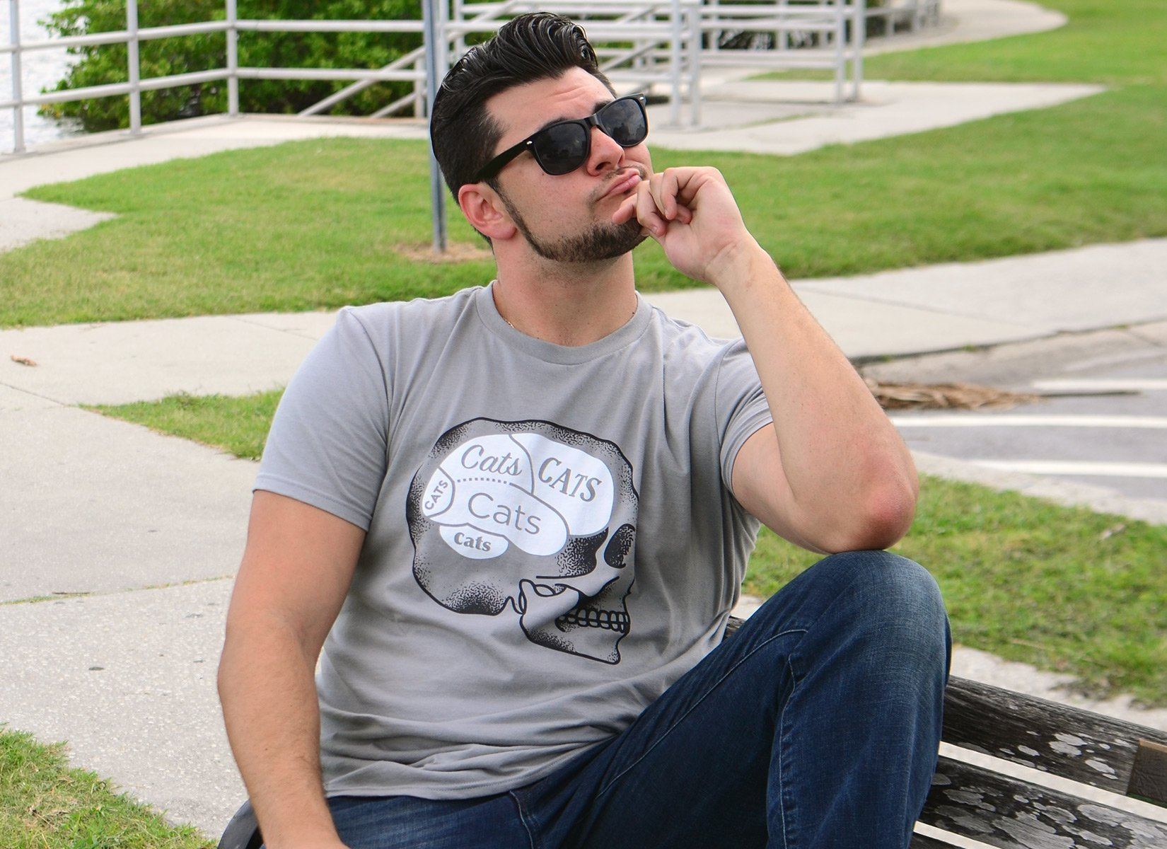 Cats On The Brain on Mens T-Shirt