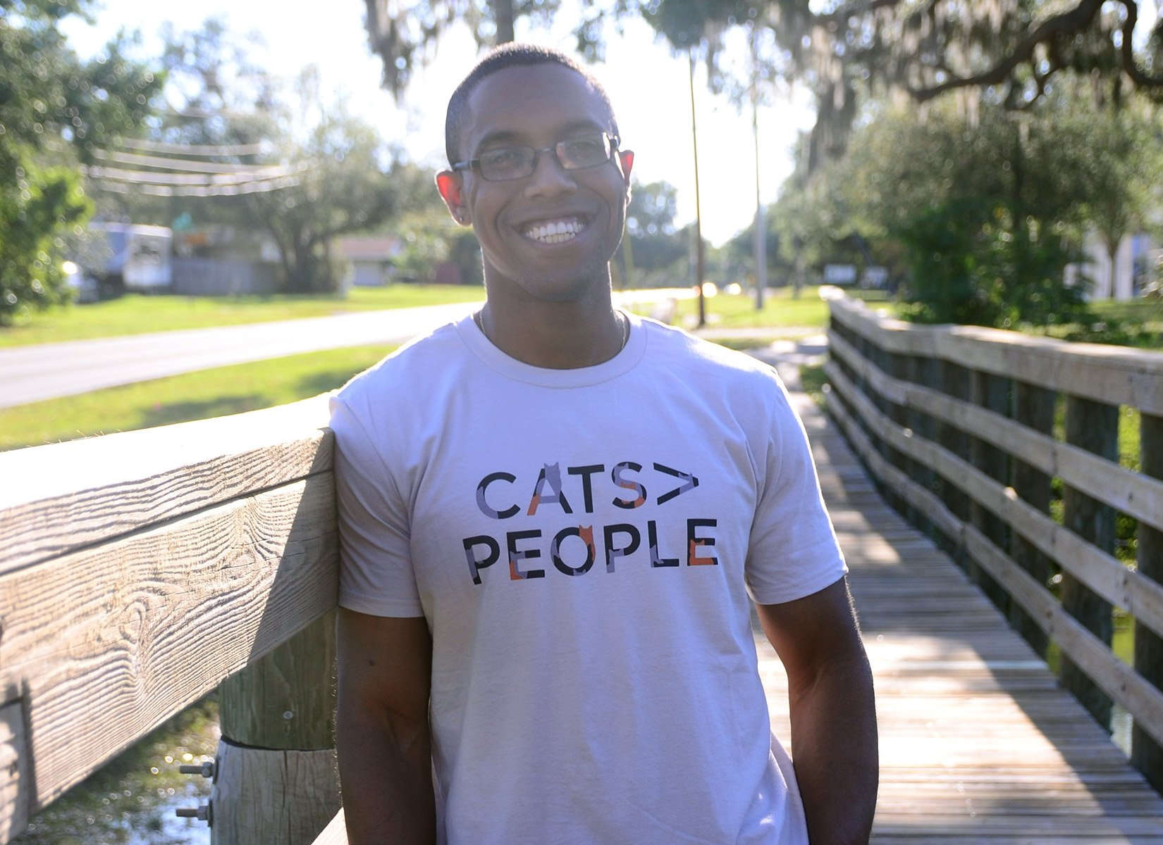 Cats>People on Mens T-Shirt