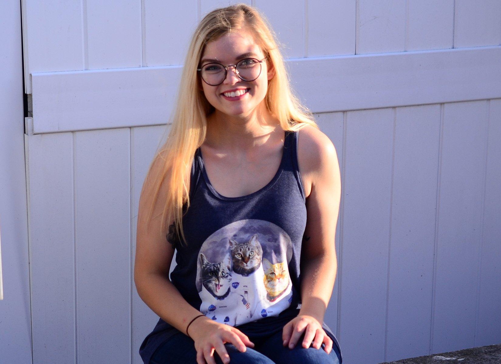 Catstronauts on Womens Tanks T-Shirt
