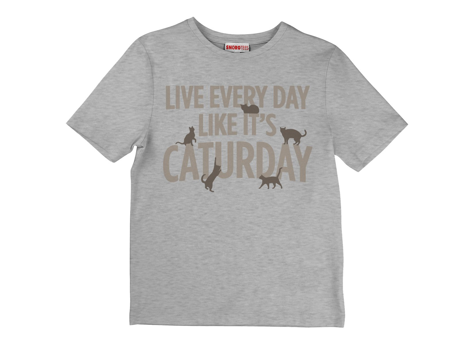 Live Every Day Like It's Caturday on Kids T-Shirt