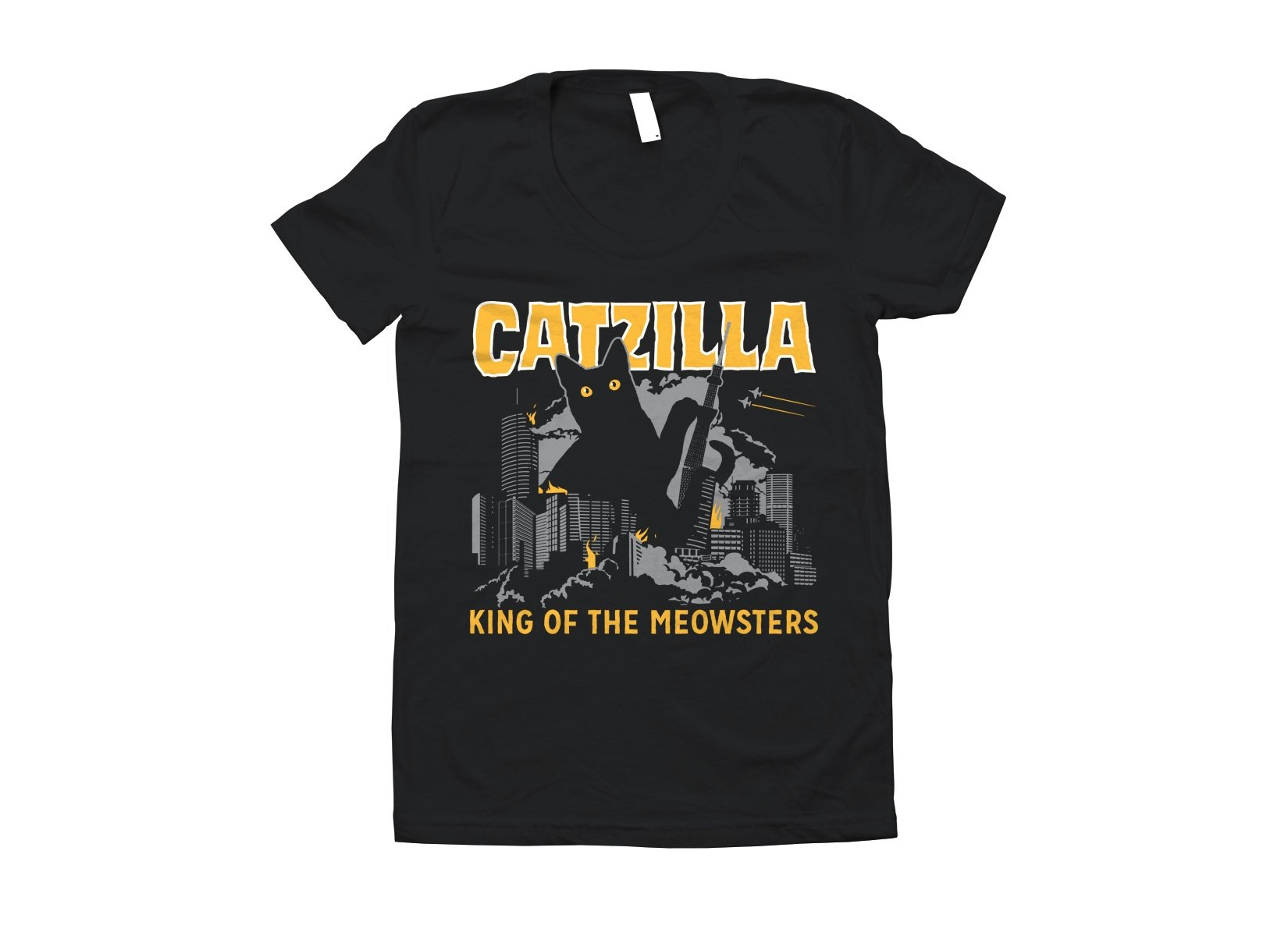 Catzilla on Juniors T-Shirt